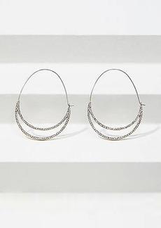 LOFT Double Framed Pull Through Hoop Earrings