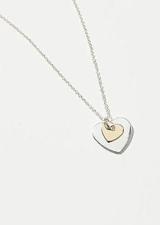 LOFT Double Heart Necklace