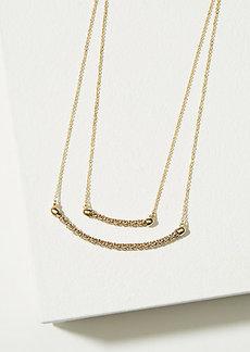 LOFT Double Layer Chain Bar Necklace
