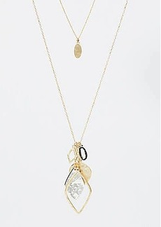 LOFT Double Layer Geo Cluster Pendant Necklace