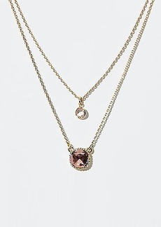LOFT Double Layer Stone Pendant Necklace