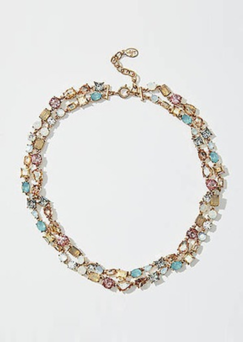 LOFT Double Layered Crystal Necklace