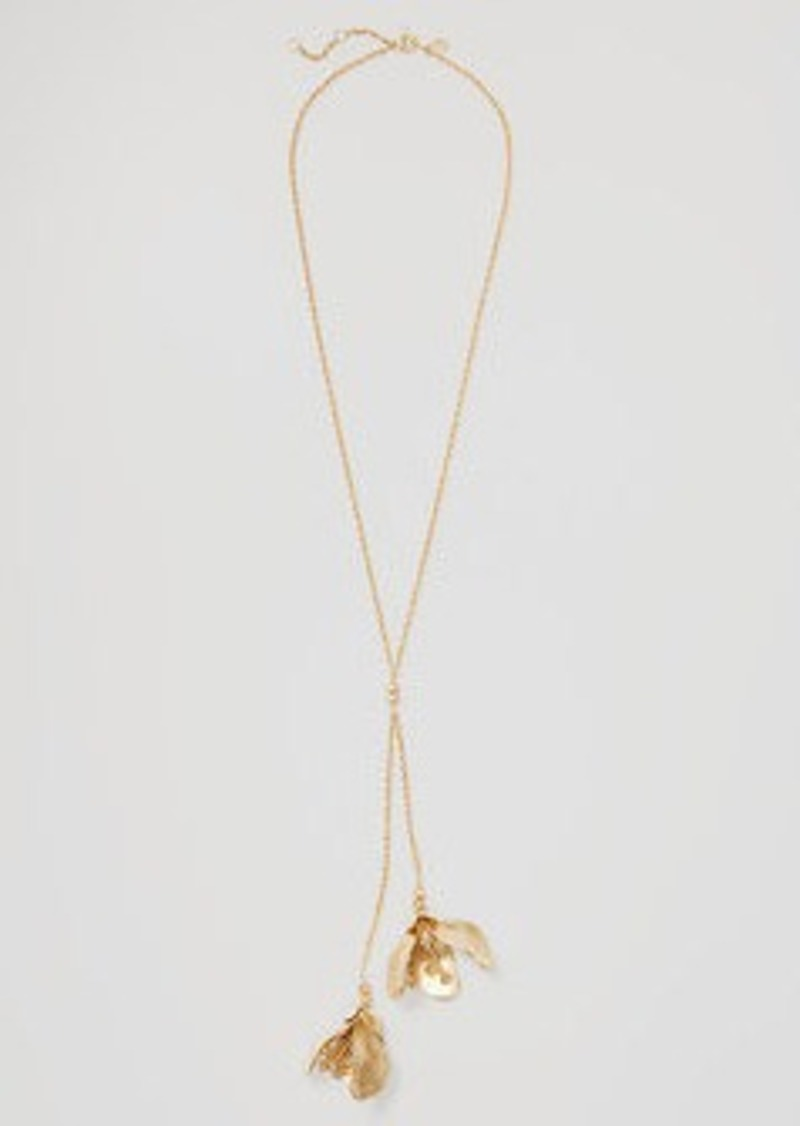 LOFT Double Petal Pendant Necklace
