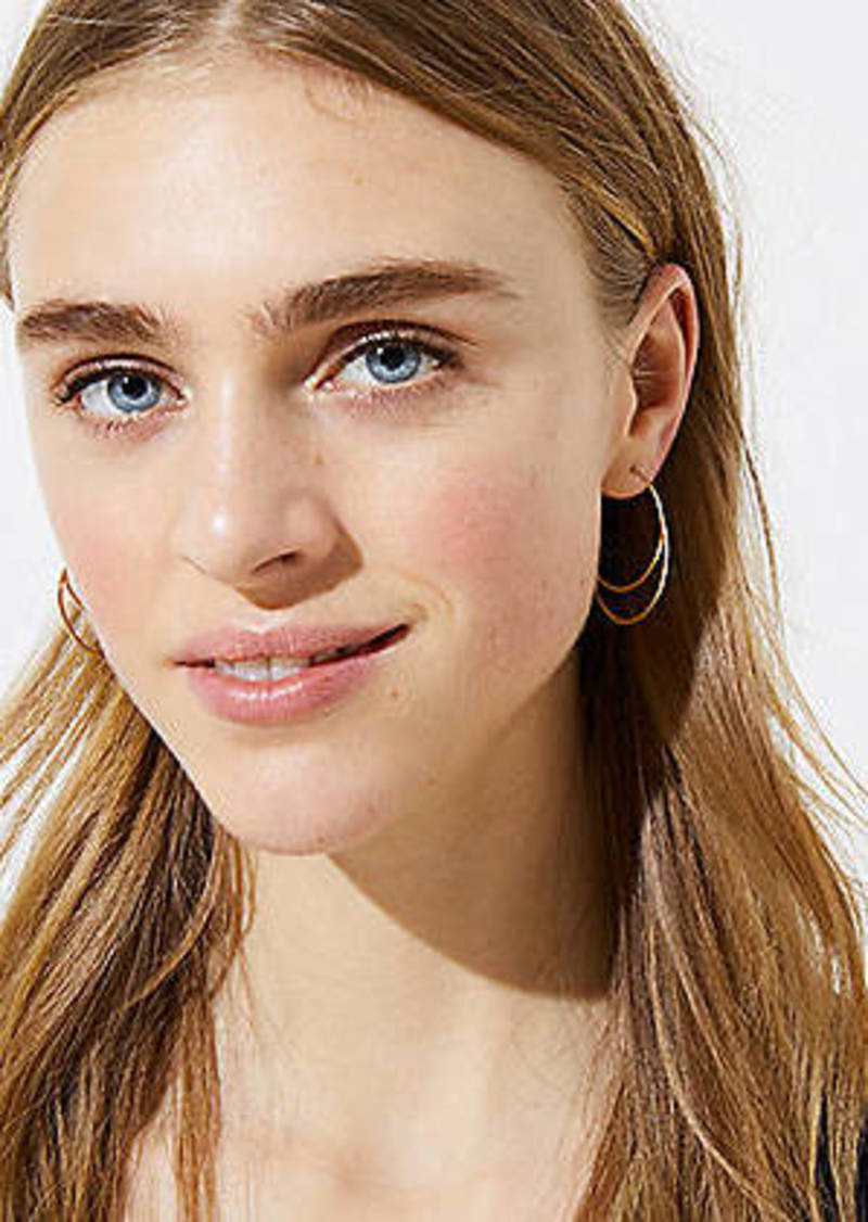 LOFT Double Pull Through Hoop Earrings