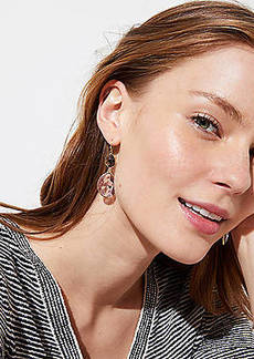 LOFT Double Stone Drop Earrings