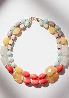 LOFT Beaded Double Strand Necklace
