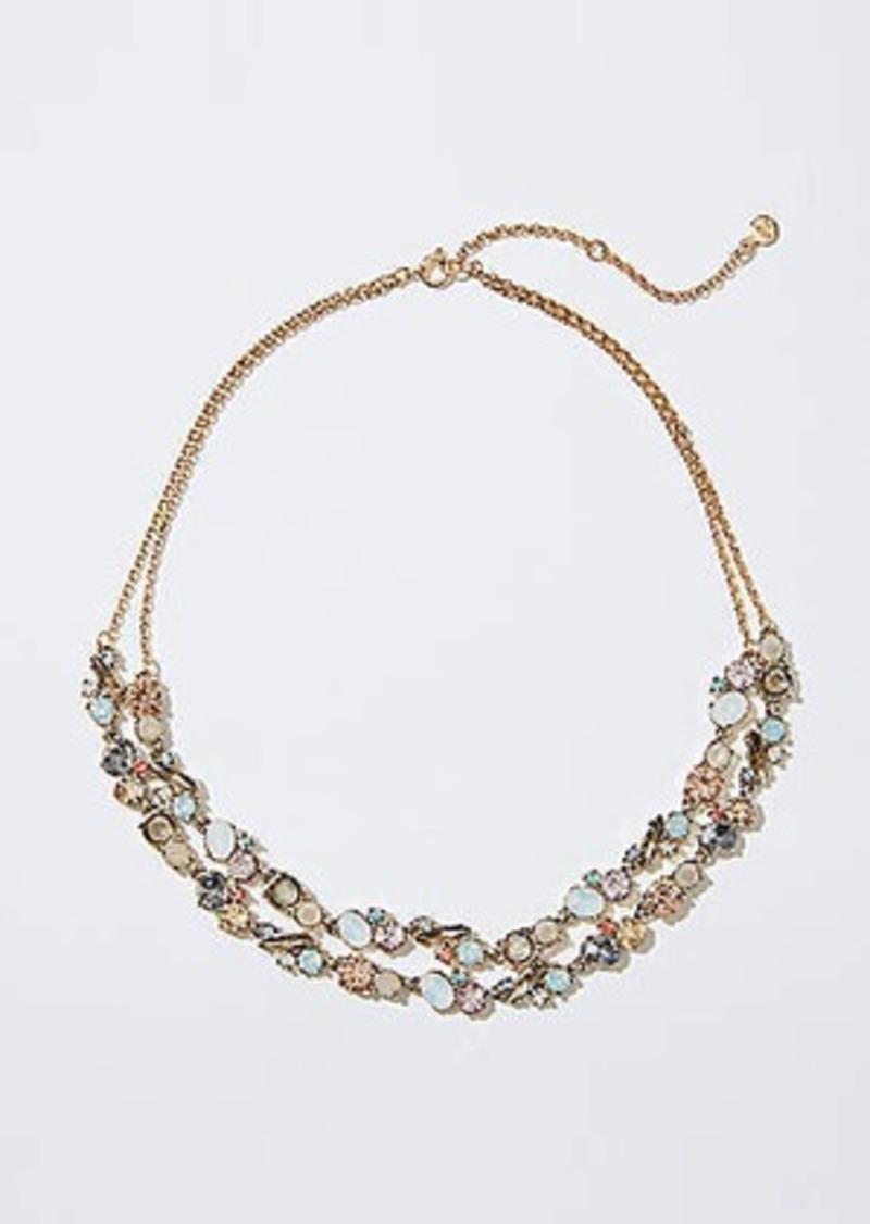 LOFT Double Strand Crystal Garden Necklace