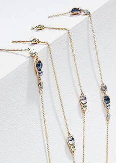 LOFT Double Strand Stone Station Necklace