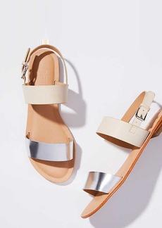 LOFT Double Strap Sandals