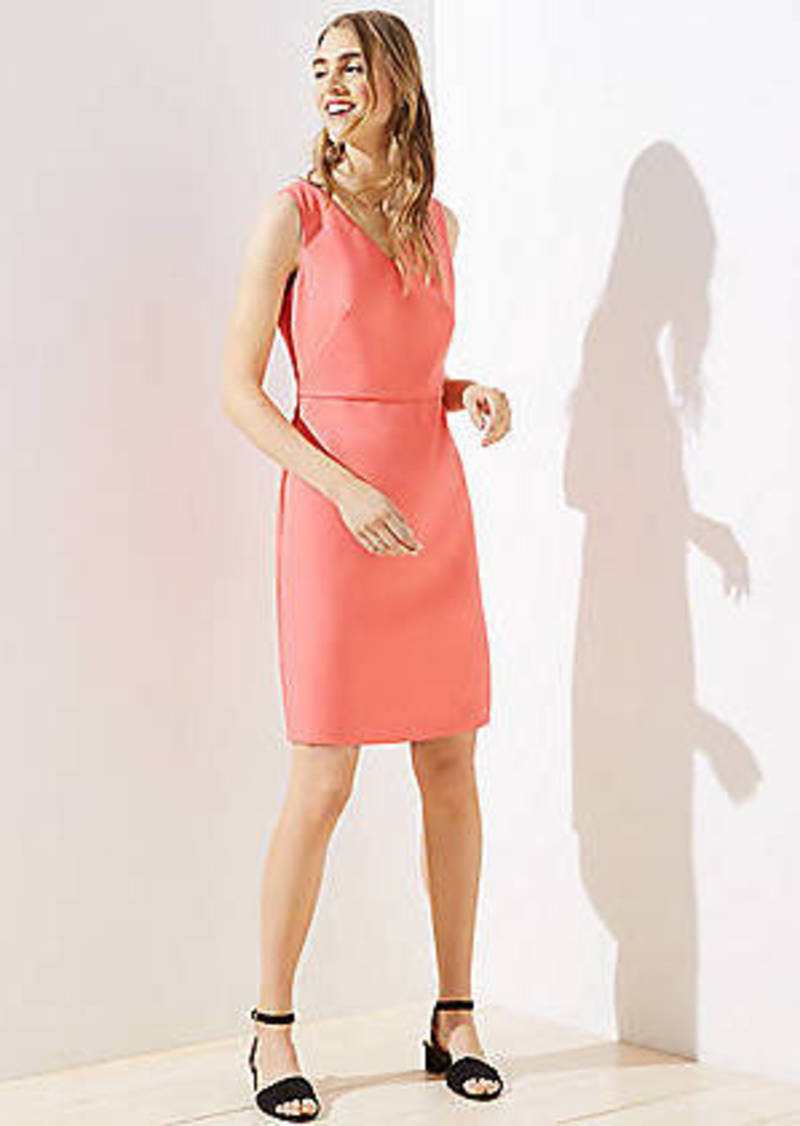 LOFT Double V Sheath Dress