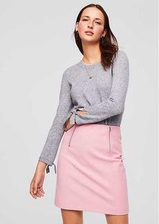 Double Zip Bi-Stretch Skirt