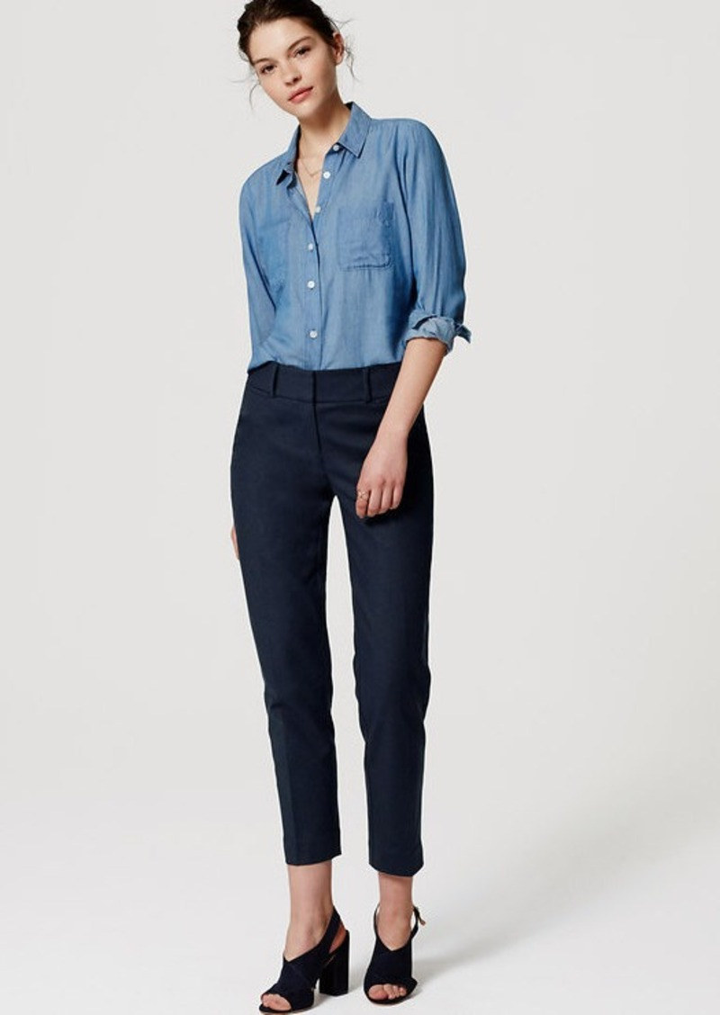 LOFT Doubleweave Riviera Cropped Pants in Julie Fit