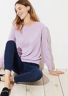 LOFT Draped Sleeve Sweater