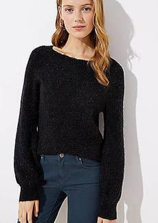 LOFT Draped Sleeve Sweater
