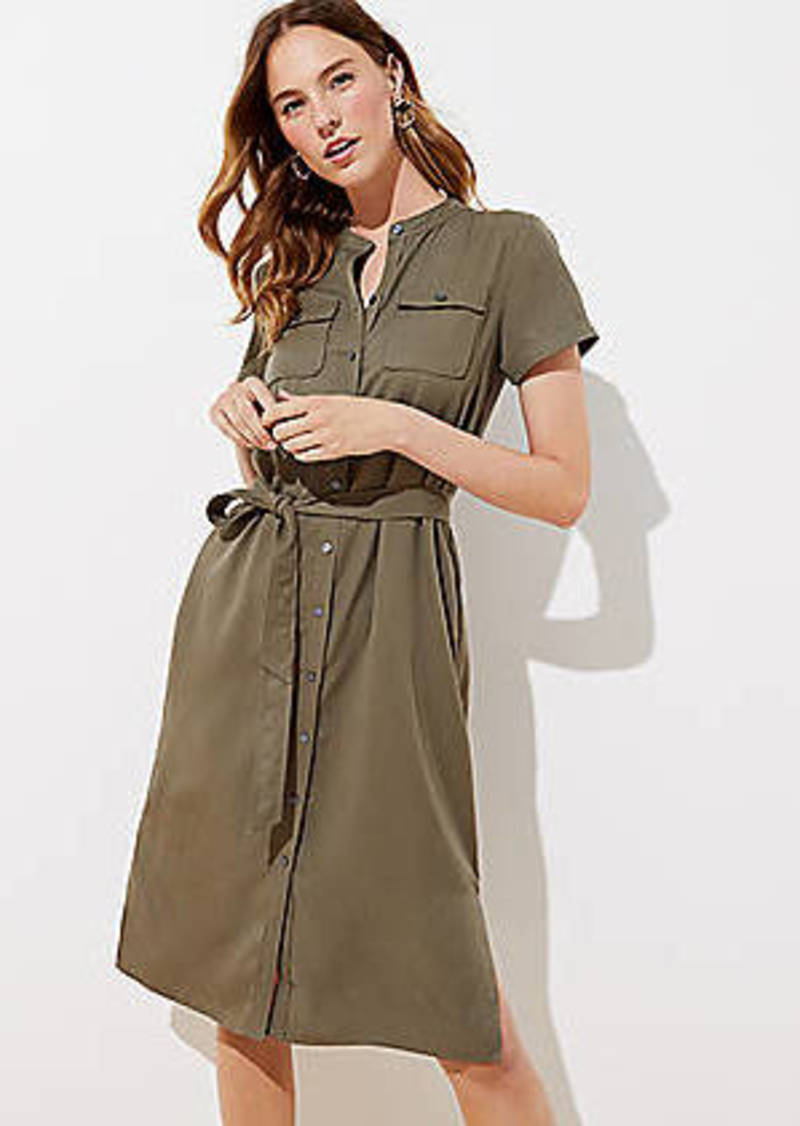 LOFT Drapey Utility Shirtdress