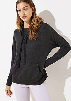 LOFT Drawstring Cowl Neck Top
