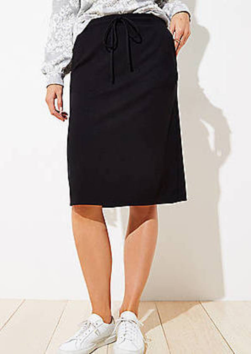 LOFT Drawstring Pocket Pencil Skirt