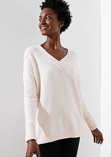 LOFT Drop Shoulder V-Neck Sweater