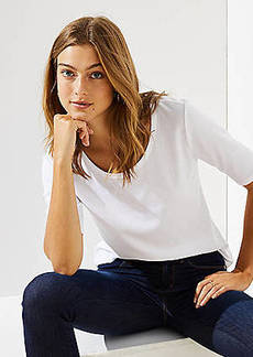 LOFT Elbow Sleeve Tee