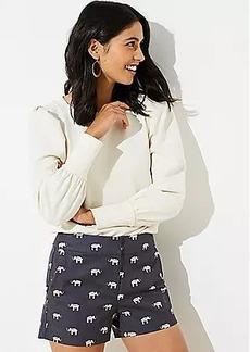 LOFT Elephant Riviera Shorts with 4 Inch Inseam