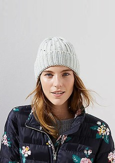 LOFT Embellished Ribbed Hat