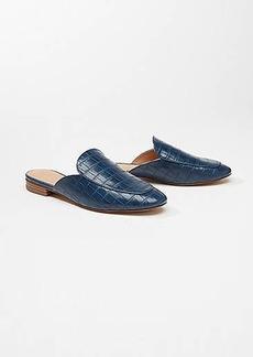 LOFT Embossed Loafer Slides
