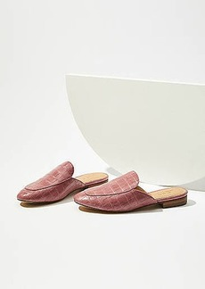 LOFT Embossed Loafer Slides