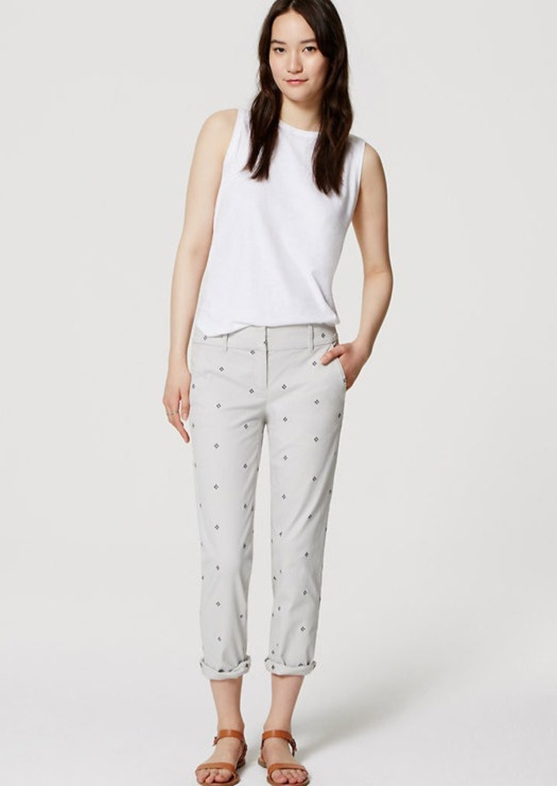 LOFT Embroidered Cropped Skinny Chinos in Marisa Fit