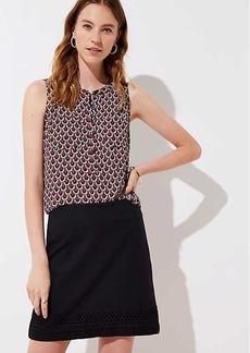 LOFT Embroidered Hem Shift Skirt