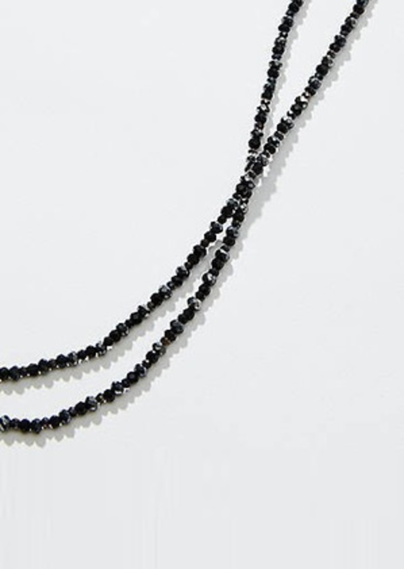 LOFT Extra Long Beaded Necklace