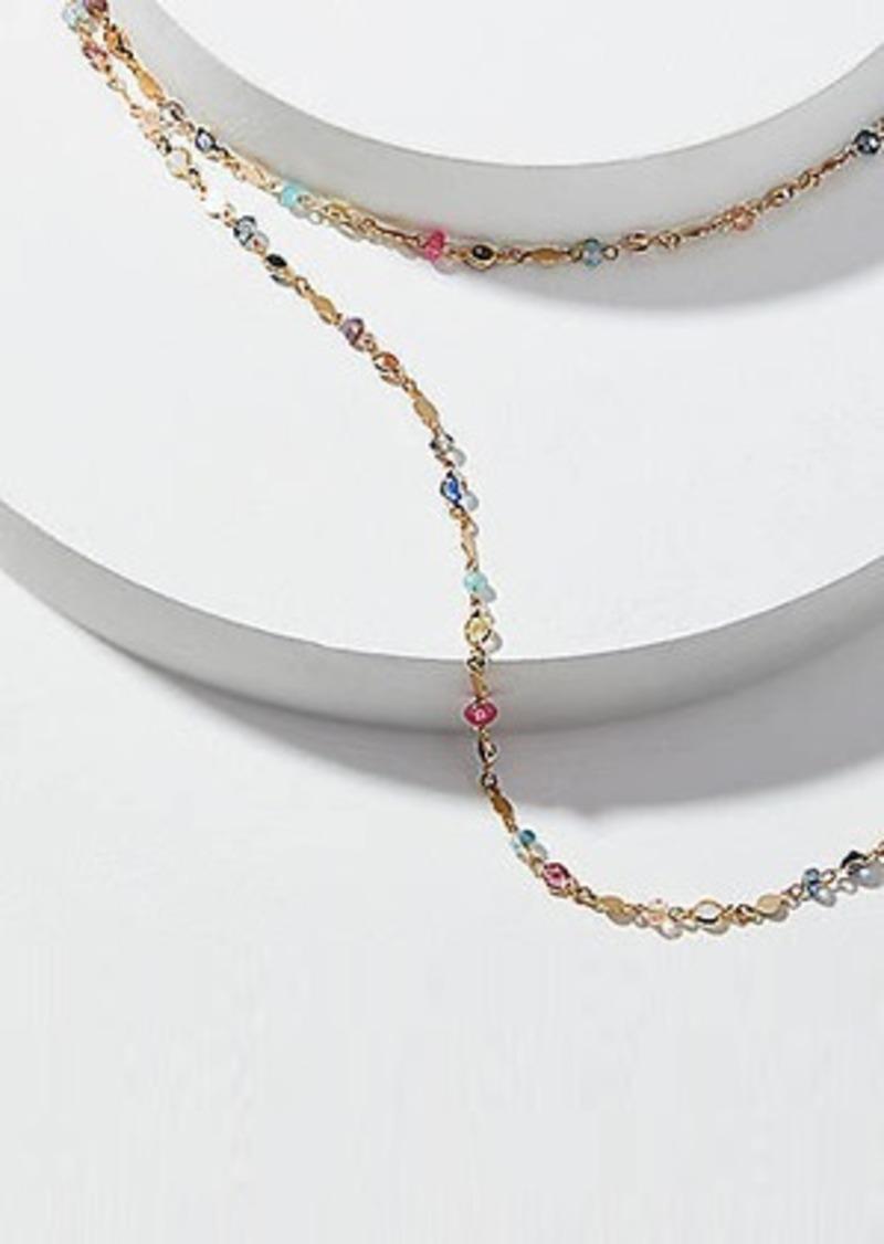 LOFT Extra Long Beaded Necklace
