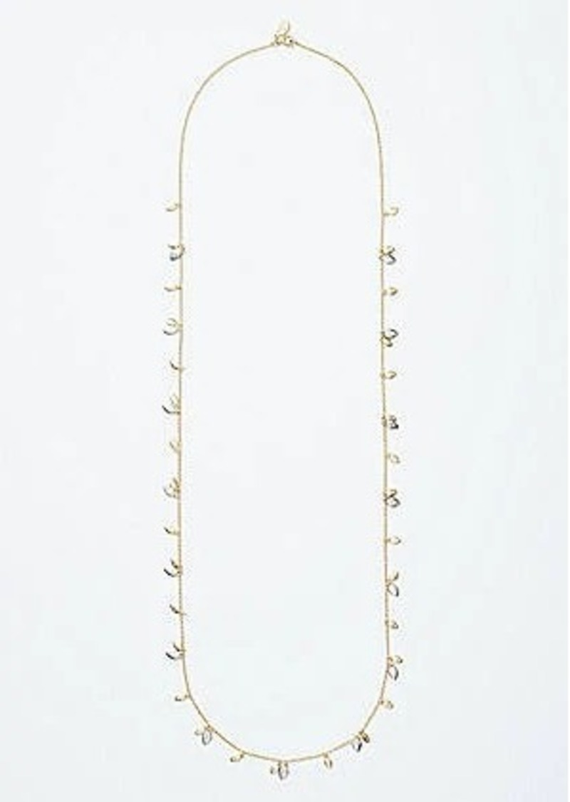 LOFT Extra Long Leaf Necklace