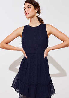 LOFT Eyelet Flounce Flare Dress