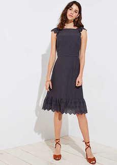 LOFT Eyelet Flutter Dress