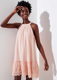 LOFT Eyelet Halter Swing Dress