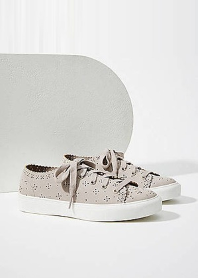 LOFT Eyelet Lace Up Sneakers