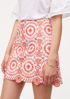 Eyelet Medallion Skirt