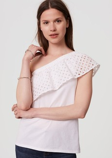Eyelet One Shoulder Top