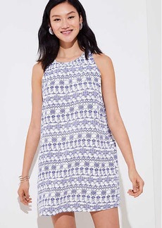 Eyelet Print Shift Dress