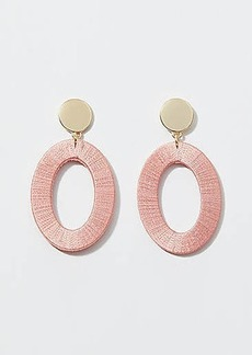 LOFT Fabric Wrapped Drop Statement Earrings
