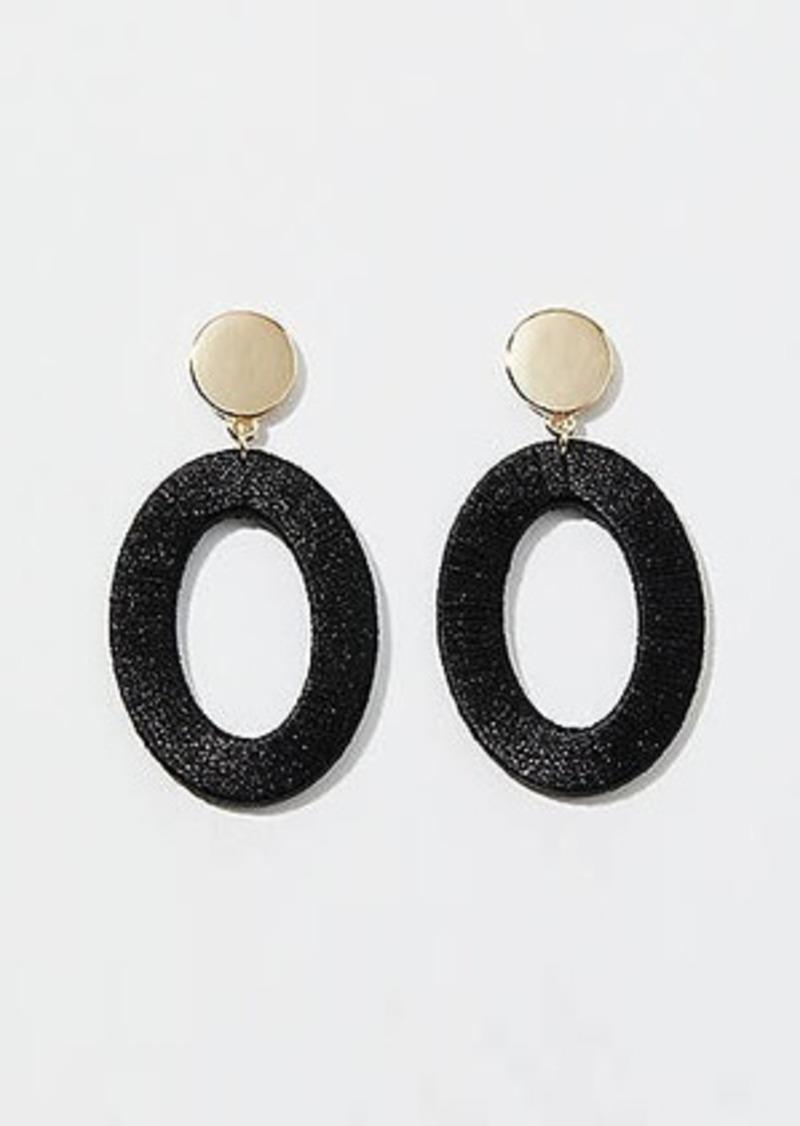 LOFT Fabric Wrapped Drop Statement Earrings