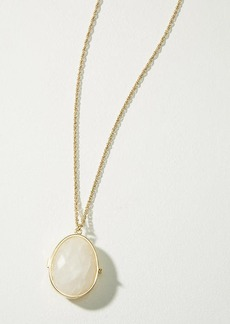 LOFT Faceted Stone Locket Necklace