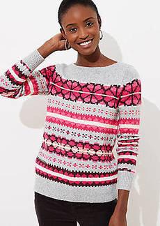 LOFT Fairisle Boatneck Sweater