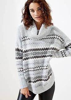 LOFT Fairisle Poncho Sweater