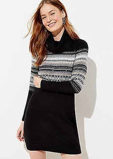 LOFT Fairisle Sweater Dress