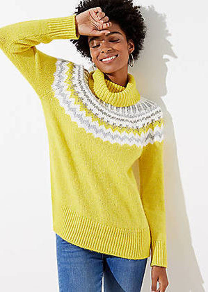 LOFT Fairisle Turtleneck Sweater