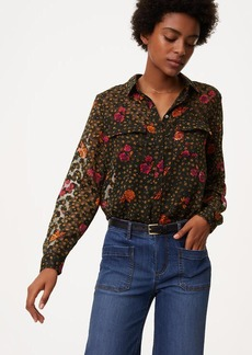 Fall Floral Utility Blouse