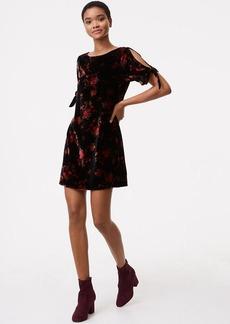 Fall Floral Velvet Split Sleeve Dress