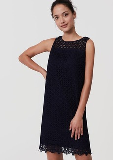 LOFT Fan Lace Shift Dress