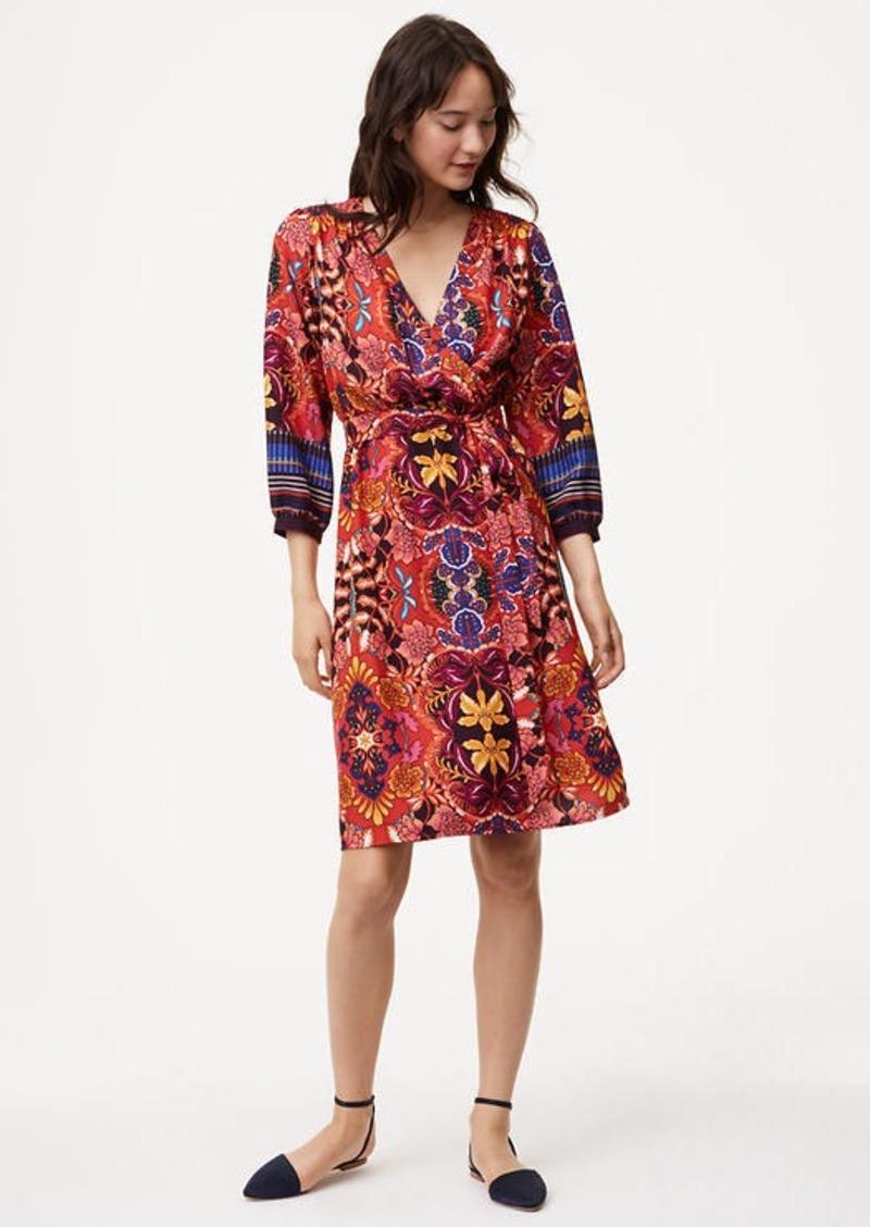 Loft Fantasy Floral Wrap Dress Dresses Shop It To Me